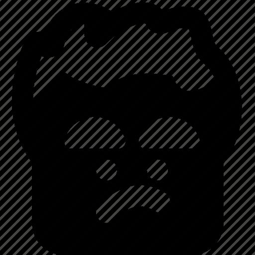 emoji, emoticon, face, in, mood, not, the icon