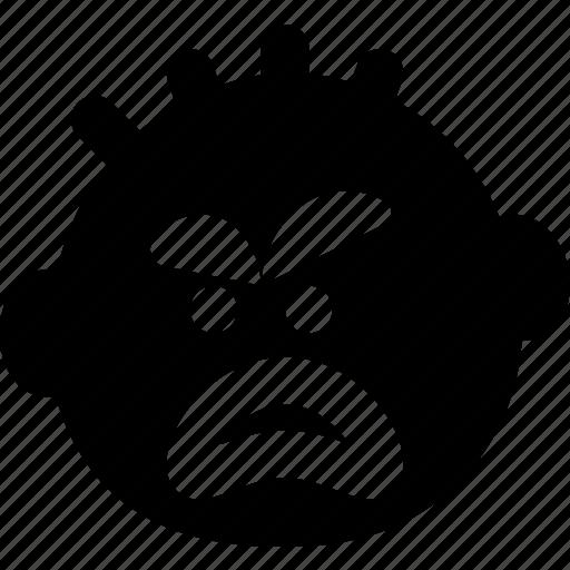 emoji, emoticon, face, yelling icon