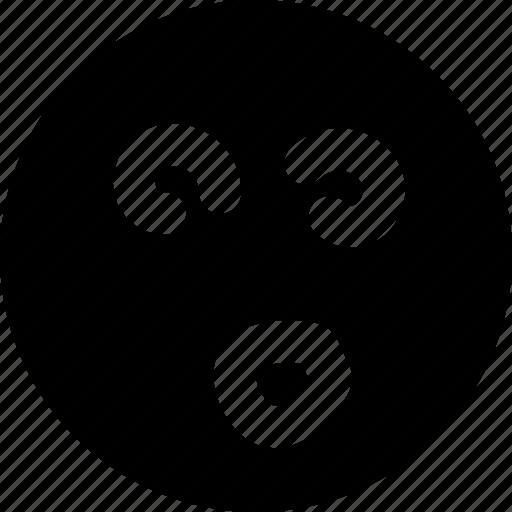 dazed, emoji, emoticon, face icon