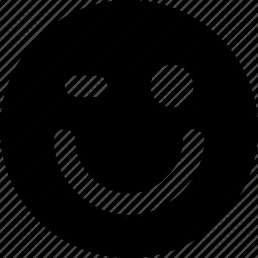 emoji, emoticon, face, winking icon