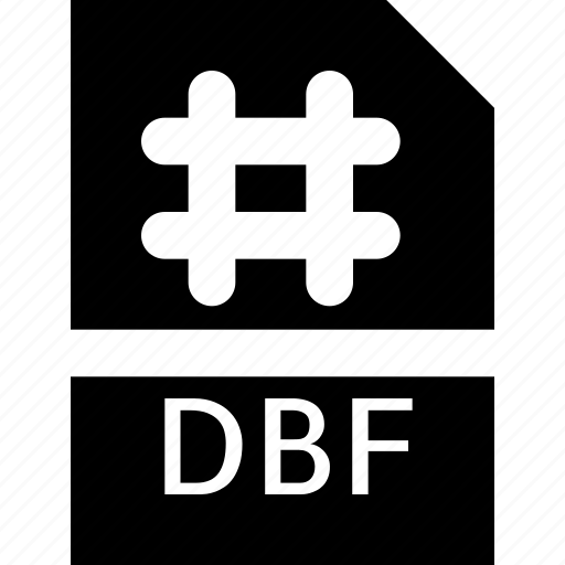 dbf, document, extension, file, format, type icon