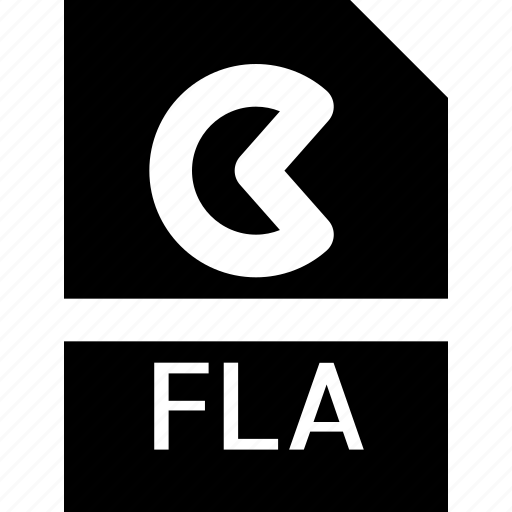 document, extension, file, fla, format, type icon