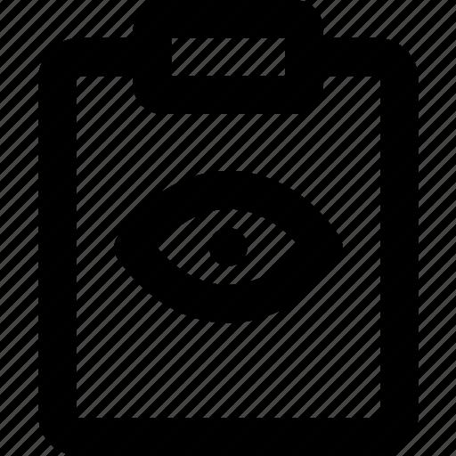 document, file, hide, note, paper, write icon