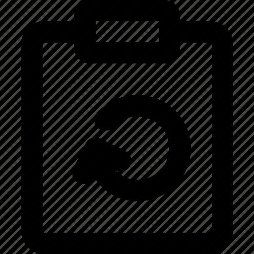 document, file, note, paper, refresh, write icon