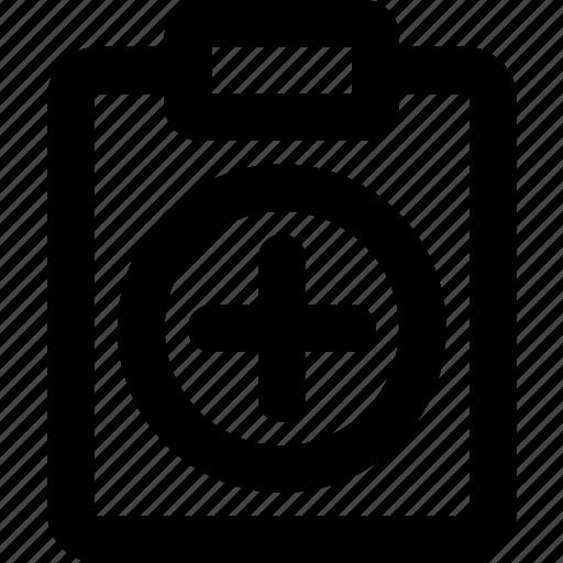 add, document, file, note, paper, write icon
