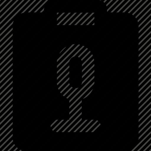 document, file, note, paper, sound, write icon