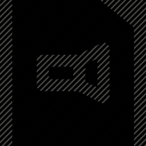 document, file, note, paper, video, write icon