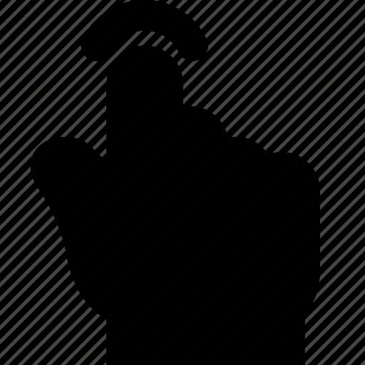 finger, gesture, hand, interaction, press icon