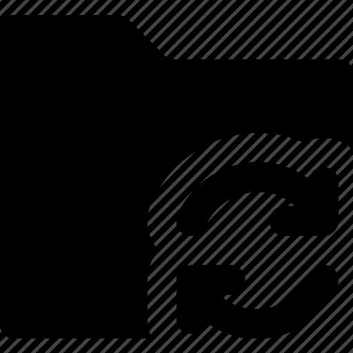 communication, folder, interaction, interface, sync icon