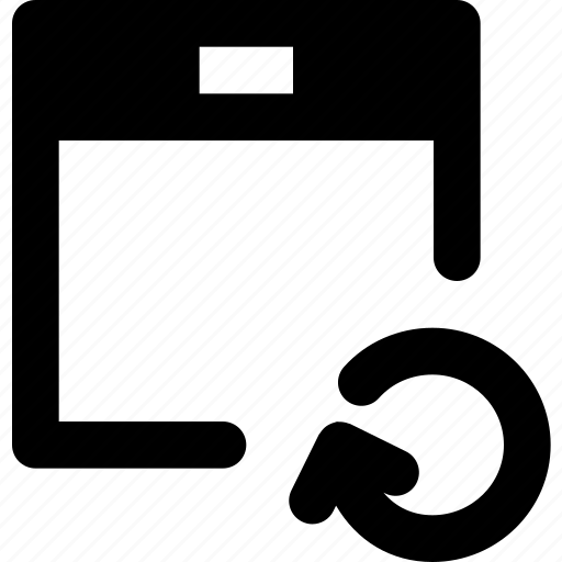 calendar, communication, interaction, interface, refresh icon