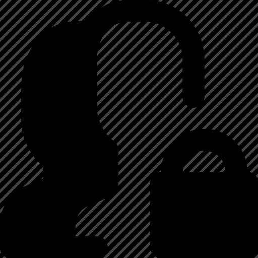 communication, interaction, interface, lock, profiles icon