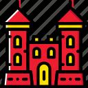 antique, castle, gate, medieval, old icon