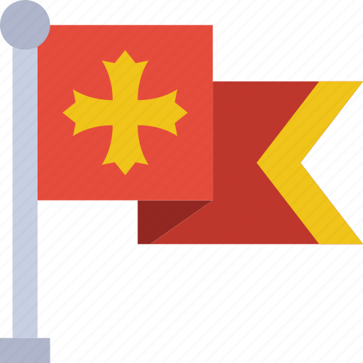antique, battle, flag, medieval, old icon