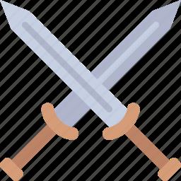 antique, medieval, old, swords icon