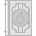 antique, medieval, old, spellbook icon