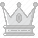 antique, crown, medieval, old icon