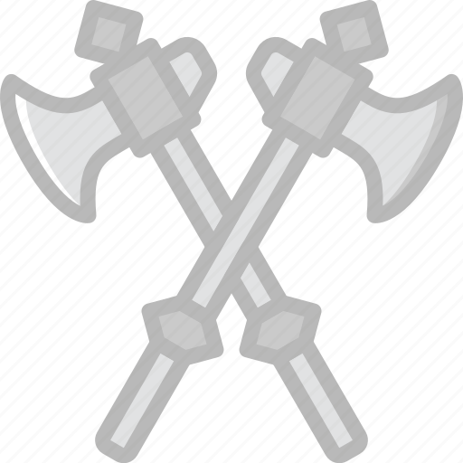 antique, axes, battle, medieval, old icon