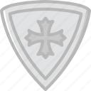 antique, medieval, old, shield icon