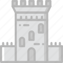 antique, guard, medieval, old, tower icon