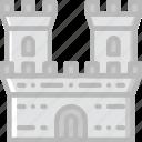 antique, castle, medieval, old icon