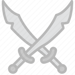 antique, medieval, old, pirate, swords icon