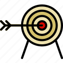 antique, archery, medieval, old, target icon