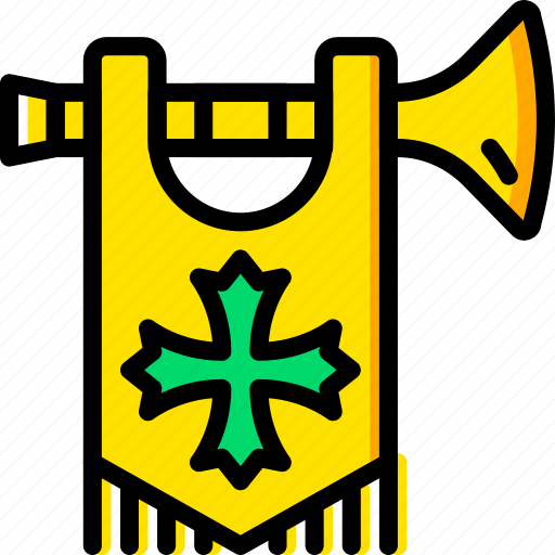 antique, battle, medieval, old, trumpet icon