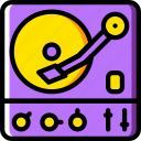 audio, music, play, sound, turntable icon