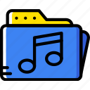audio, folder, music, play, sound icon