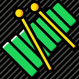 audio, music, play, sound, xylophone icon
