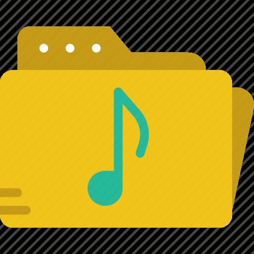 audio, folder, play, sound icon