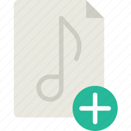 add, audio, file, play, sound icon