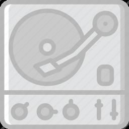 audio, music, play, sound, turntable icon