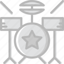 audio, drum, music, play, set, sound icon