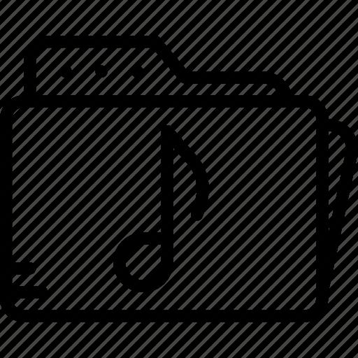 audio, folder, music, play, sound icon