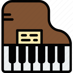 audio, music, piano, play, sound icon