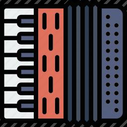 accordion, audio, music, play, sound icon