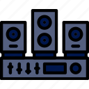 audio, music, play, sound, system icon