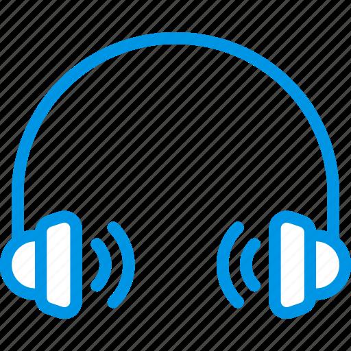 audio, headphones, loud, music, play, sound icon