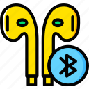 audio, headphones, music, play, sound, wireless icon