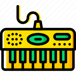 audio, electric, music, piano, play, sound icon