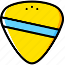 feather, guitar, yellow icon