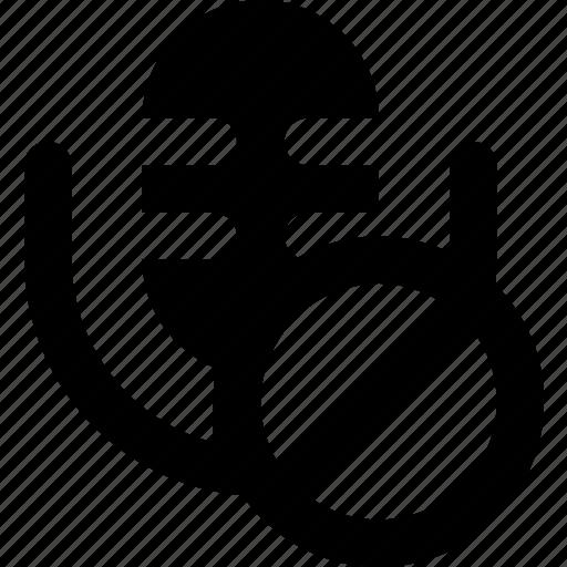 communication, forbidden, media, microphone, news icon