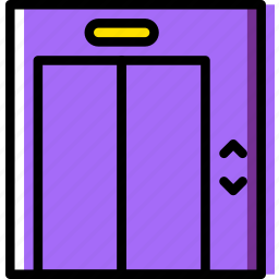 building, construction, elevator, estate, home, property, real icon