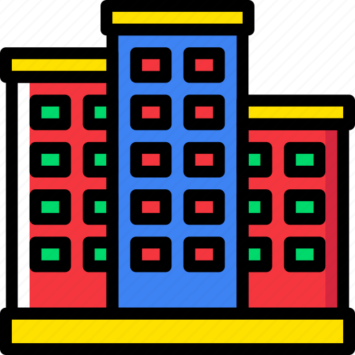 appartment, building, complex, estate, home, property, real icon