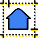 blueprint, building, estate, home, house, property, real icon
