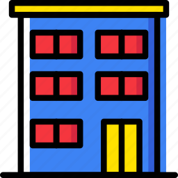 appartments, building, estate, home, property, real icon