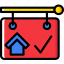 building, estate, home, house, property, real, sold icon