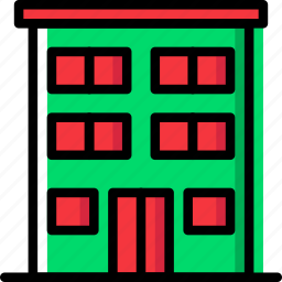 appartments, building, construction, estate, home, property, real icon