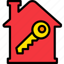 building, estate, home, house, key, property, real icon
